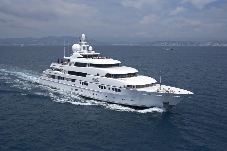 Titania Yacht Charter - Lurssen Luxury Superyacht
