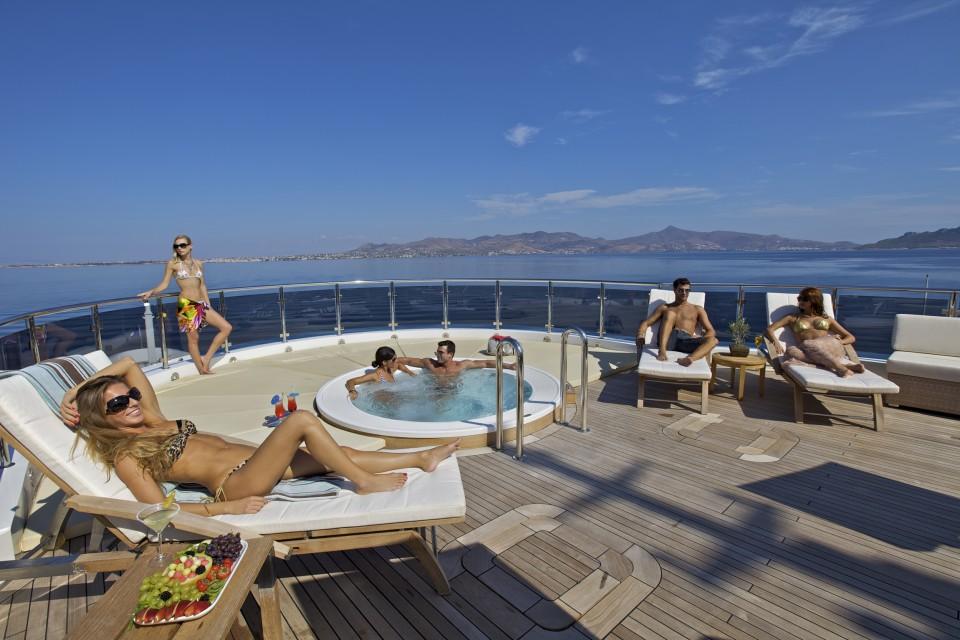 Mega yacht charter mitsubishi yachts luxury superyacht