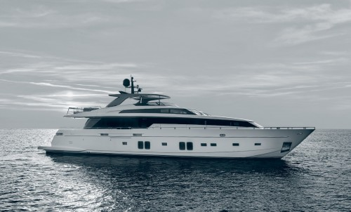 Exciting new Sanlorenzo SL106 motor yacht SALT, available for charter this summer.