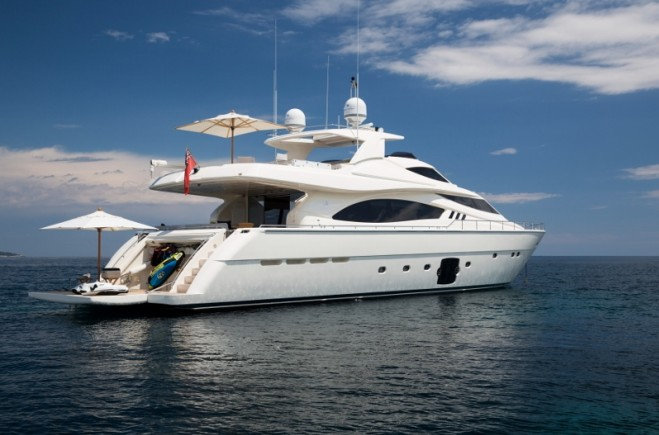 M/Y SANS ABRI - 2012 Ferretti 881 Available to View in Cannes